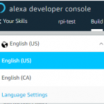 Skill Language Settings